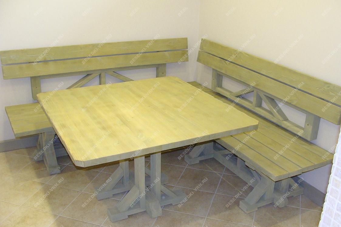 Мебель предметы интерьера беседки угловой стол