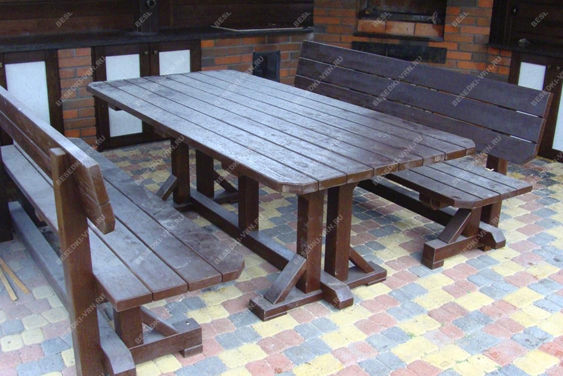 Мебель предметы интерьера беседки стол