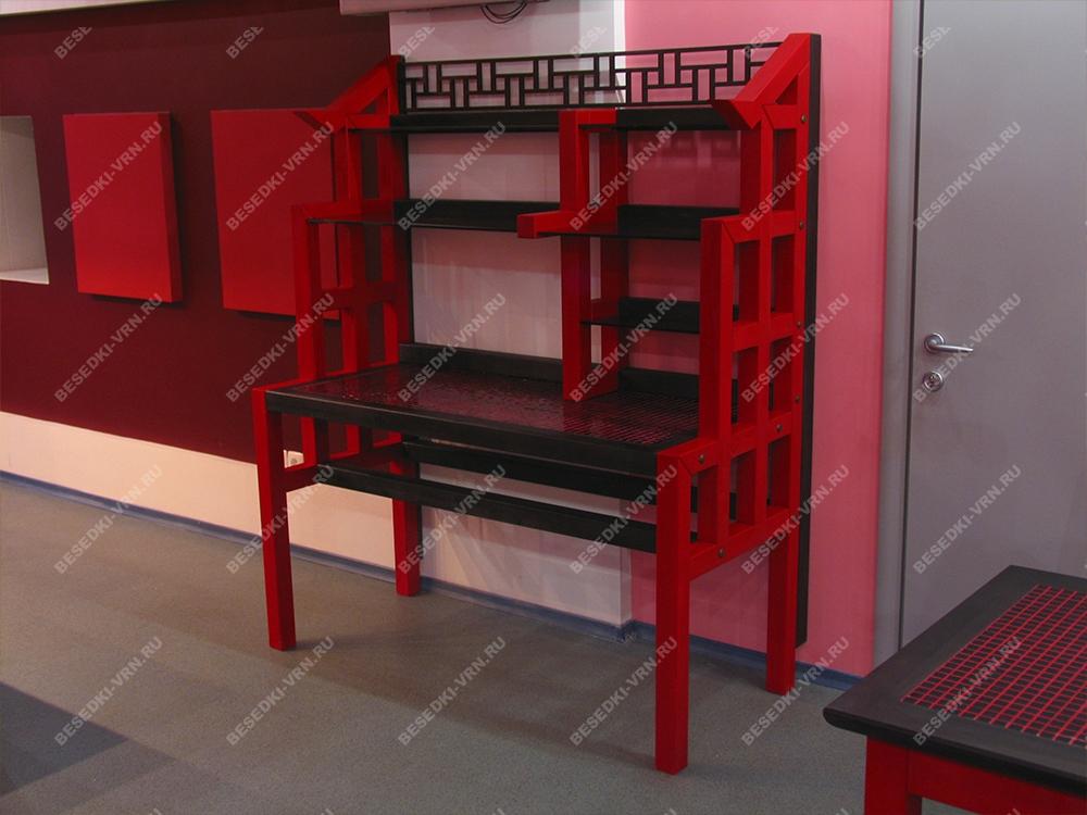 Мебель предметы интерьера беседки стол красный декор