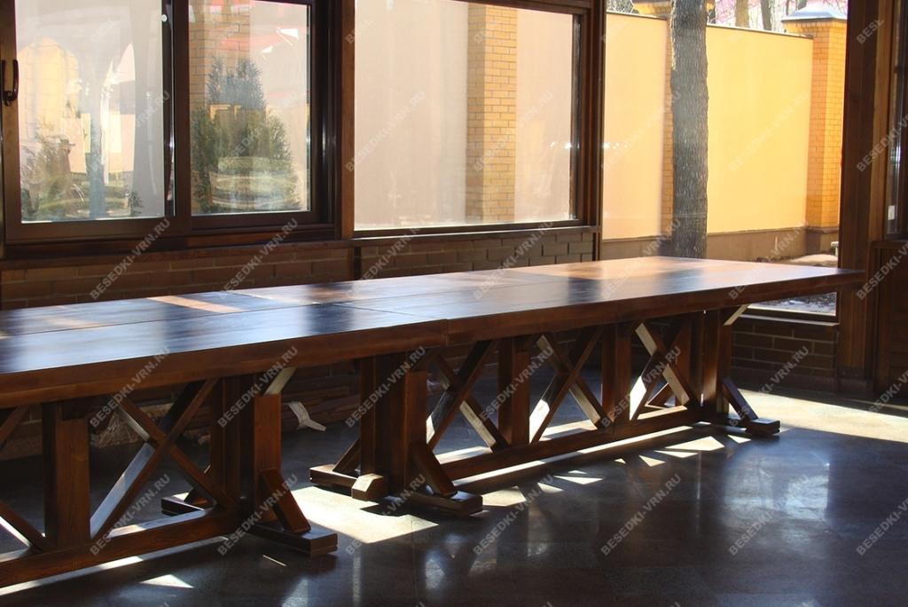Мебель предметы интерьера беседки стол длинный