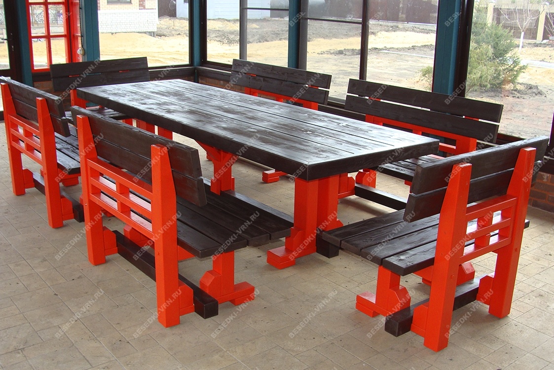 Мебель предметы интерьера беседки стол стекло красный